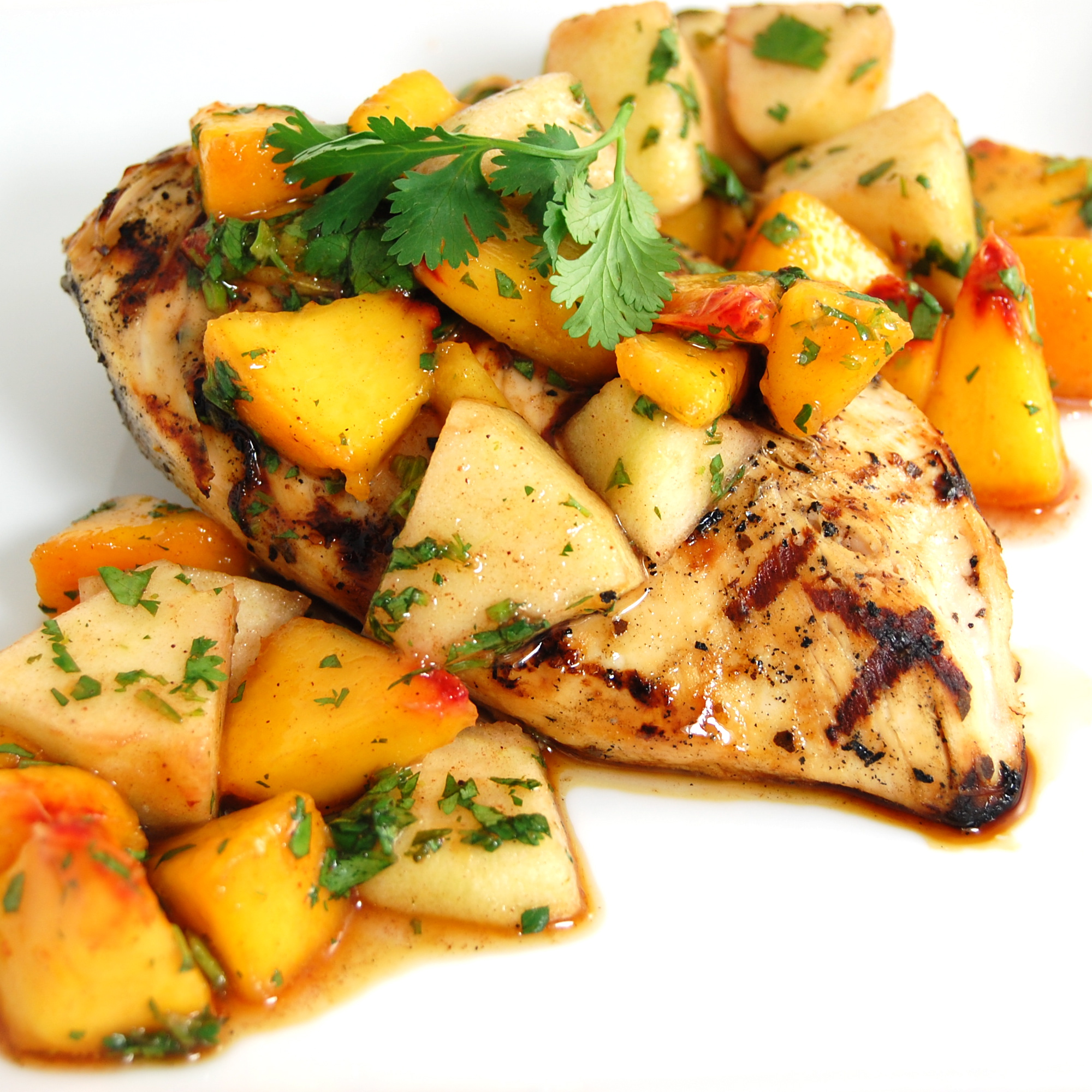 Buttermilk Chicken With Peach-Tomato Salsa Recipes — Dishmaps